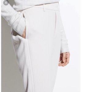 THEORY white/ ivory dress pencil pant -0
